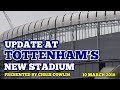 UPDATE AT TOTTENHAM'S NEW STADIUM: West Stand Entrance, Club Shop, Roof Lift - 10 March 2018