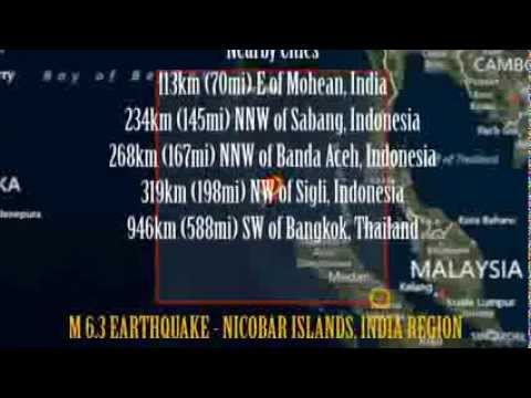 M 6.3 EARTHQUAKE - NICOBAR ISLANDS, INDIA REGION March 21, 2014