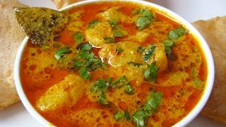 Yogurt Potato Curry Recipe From North Indian Cuisine By Sonia Goyal @ ekunji.com