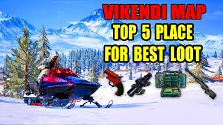 PUBG Mobile Vikendi Map Top 5 best loot locations ! where to find the best loot in Vikendi Map ?