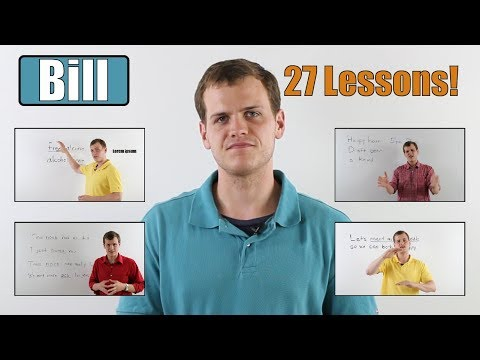 Learn English with Bill  27 Lessons  Speaking for Beginners