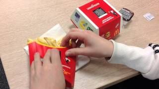 Акция с призами в Макдональдсе. The campaign with prizes at McDonalds