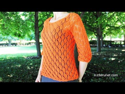 Видеоурок вязания на спицах кофты женские