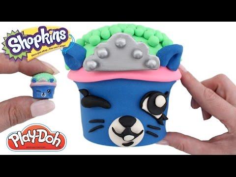 How to Make Royal Cupcake with Play-Doh * Shopkins Season 5 * Play Dough Art * RainbowLearning