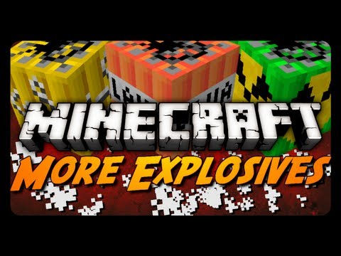Minecraft Mod Review: MORE EXPLOSIVES MOD! (Missiles. Land Mines. Fireworks & More)