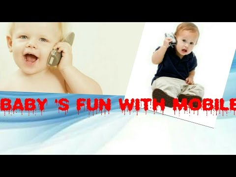 Baby's Fun with mobile -Most funny video