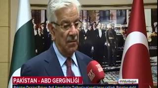 Foreign Minister of Pakistan interview with TRT Haber 12 Sep 2017