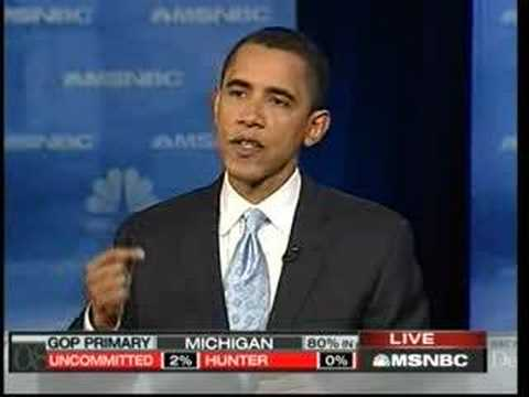Nevada Debate: Barack Obama on the Politics of Fear Video