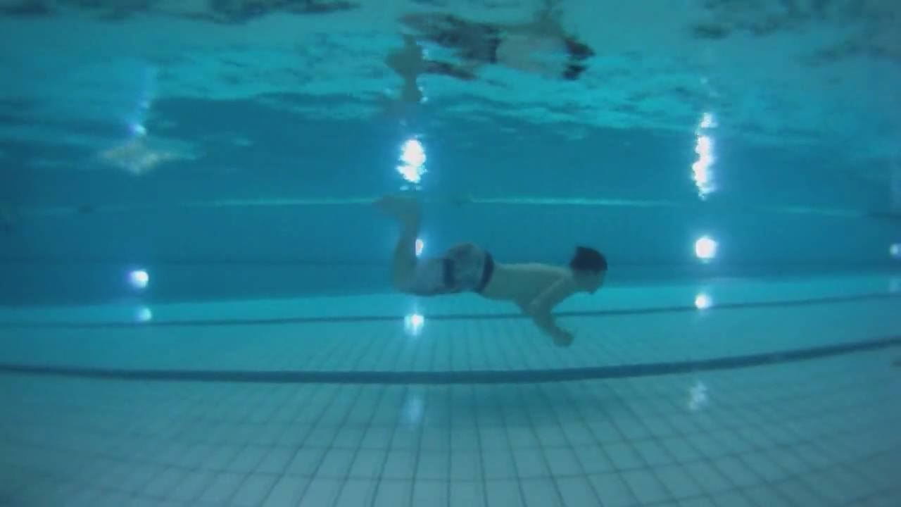 swimming a 25 meter pool under water side view youtube
