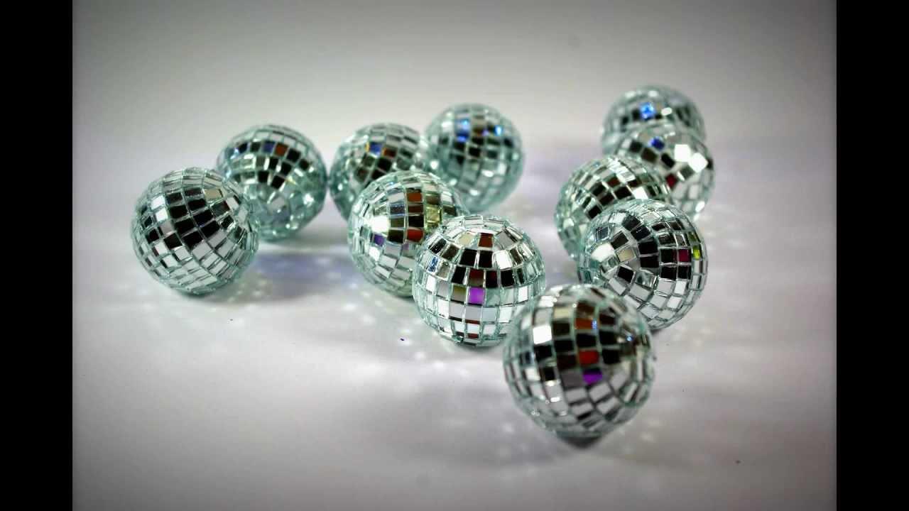 Silver Mini Disco Balls Idea Table Decorations Wedding