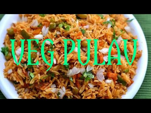Veg pulav/ vegetables rice/ vegetable pulav in telugu/ veg pulav in pressure cooker