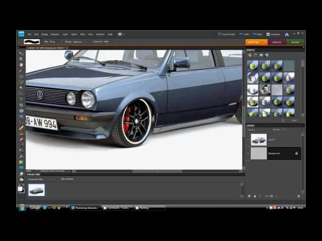 Photoshop Virtual Car Tuning