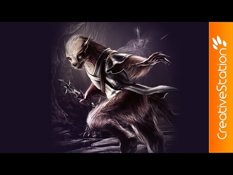 WereWeasel - Speed Painting (#Photoshop) | CreativeStation