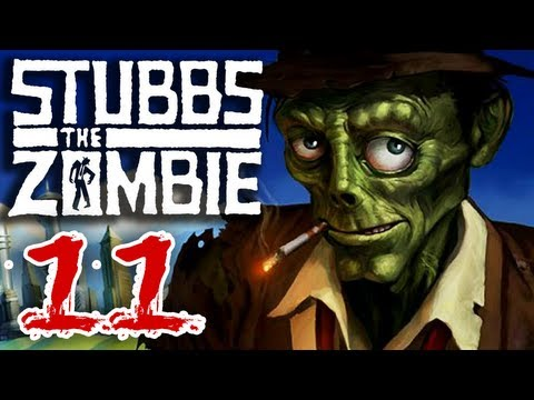 Stubbs the Zombie (Part 11) in Rebel Without a Pulse Xbox 360 Gameplay - Ray Gun and Thunder Gun