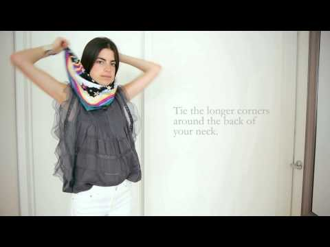 How To Tie a Neck Scarf