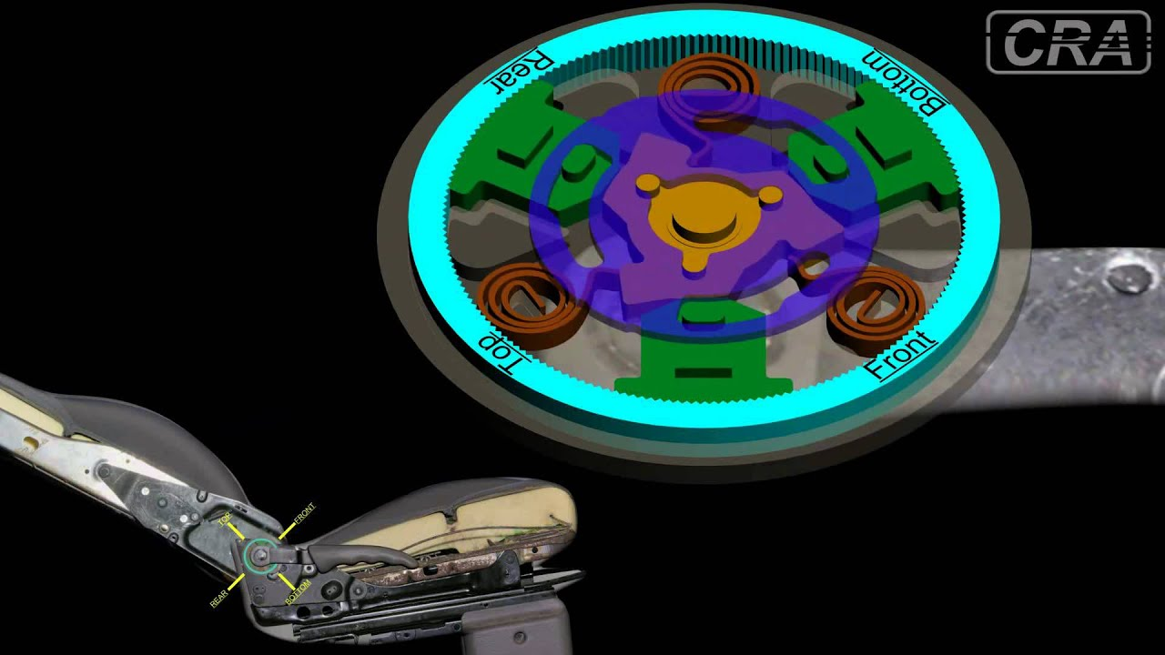 Animation Of Car Seat Recliner Mechanism Youtube