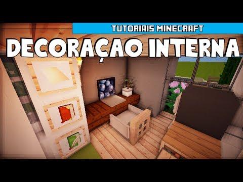 Tutoriais Minecraft: Decoração Interna da Pequena Casa Moderna