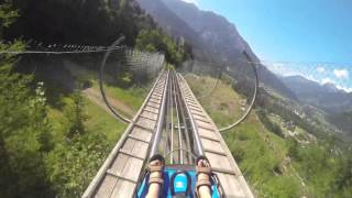 Alpine Slide at Golm Mountain, Austria, 20 July 2015