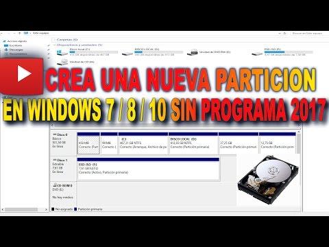 Como Crear y Eliminar Particiones de Disco 2017 en Windows 7/8/10