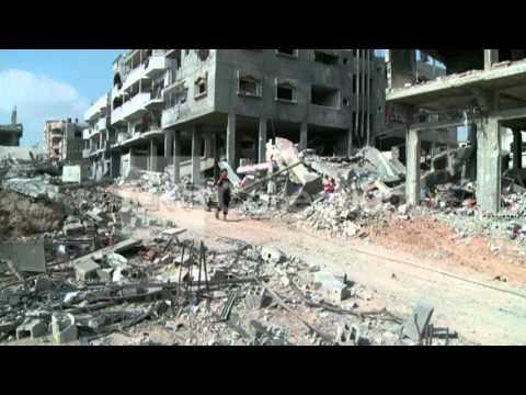 GAZA: QUIET IN SHUJAYA AFTER CEASE-FIRE