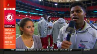 Alabama receiver Josh Pugh interviews ESPN