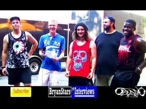 Oceano Interview Adam Warren White Chapel Tour 2012