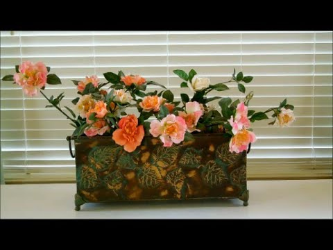Silk flower arrangement tutorial different styles of for Do it yourself flower arrangements