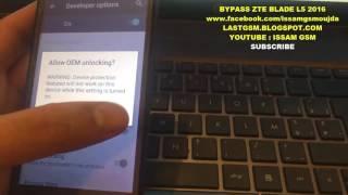 ZTE BLADE L5 BYPASS GOOGLE ACCOUNT REMOVE FRP 2016 SECRET
