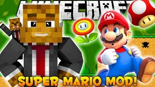 Minecraft EPIC Super Mario Mod - Mario, Bowser BOSS, FLAMETHROWER + MORE - Mod Showcase