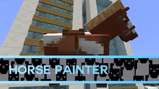 Minecraft 1.9: Horse Painter 2.0 in 3 commands!