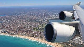 QANTAS B747-400 BUSINESS Class Sydney to South Africa over Antarctica
