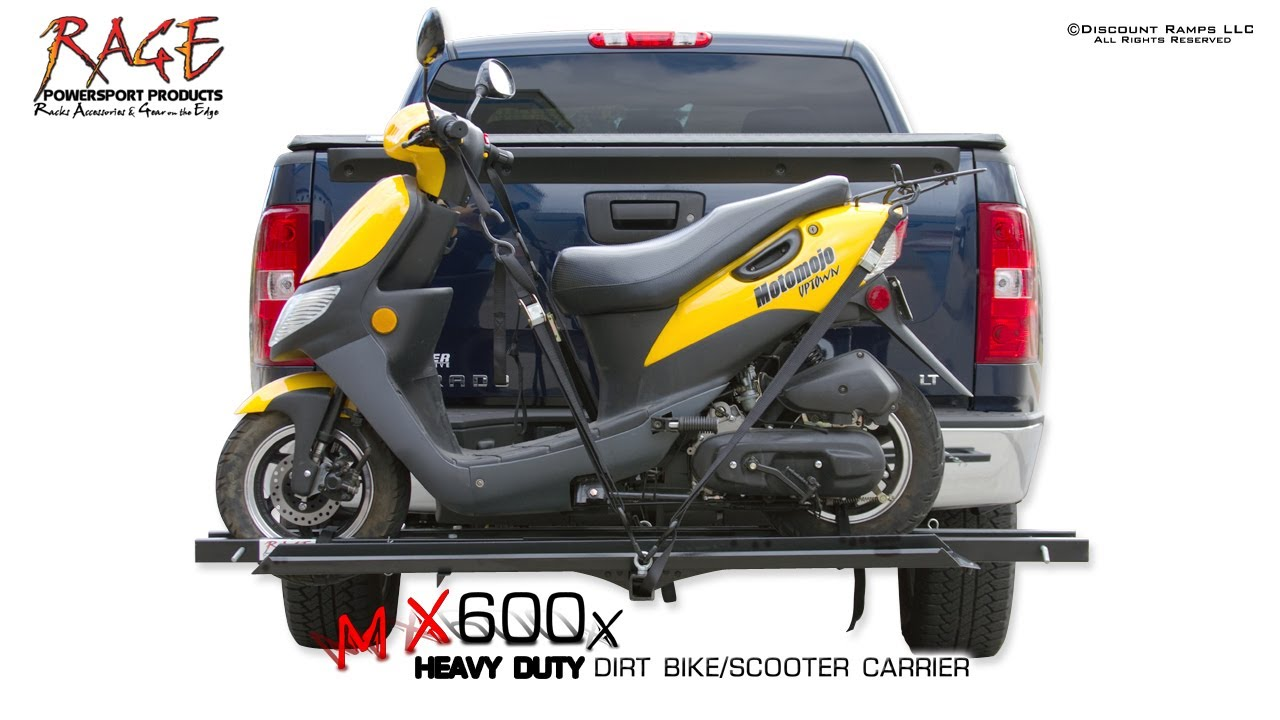 Mx 600x Scooter Dirt Bike Hitch Carrier Youtube