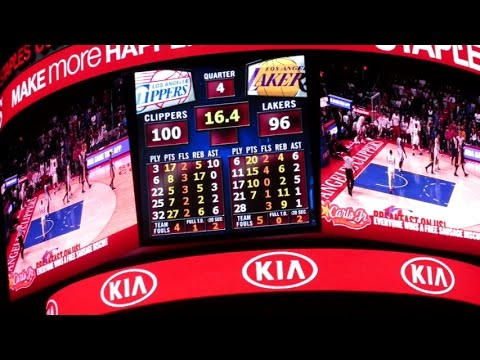 CLIPPERS VS. LAKERS! - April 7, 2015 | TheZombieeLife