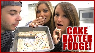 SASSY BAKING! | Cake Batter Fudge