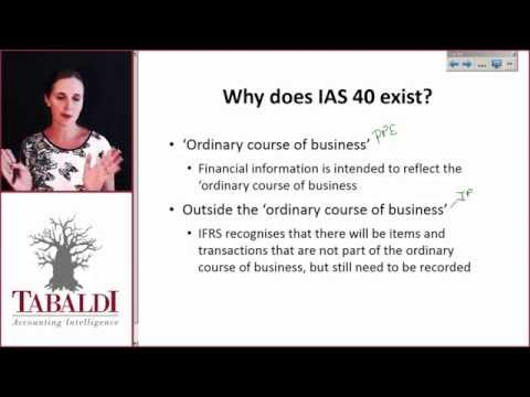 IAS40- Why does IAS 40 exist ?