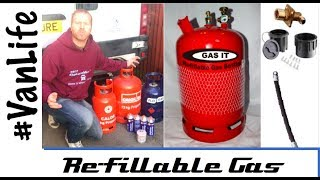 Paying too much for bottled LPG gas? - Use refillable bottle to make it cheaper and easier - Vanlife