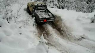 Chevy K30 snow wheeling in Sweden part3 -Hill climb