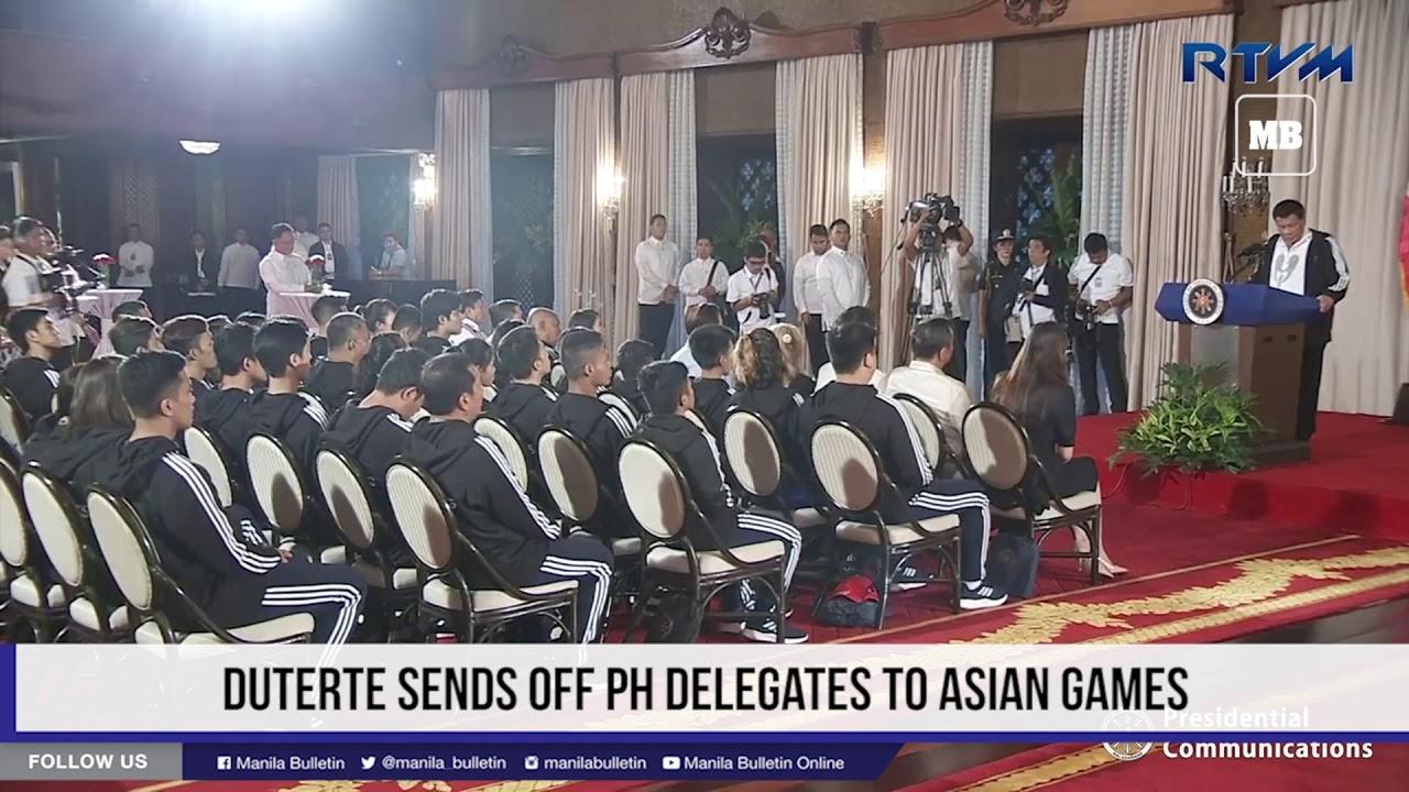 Duterte sends off PH delegates to Asian games