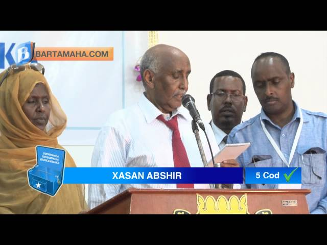 Somalia Democracy: Tirada inta Codeysay Door. Gd. Baarl/ka (Speaker of the Parliament Vote Count)