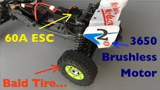 Overpowered Brushless TAMIYA Neo Fighter Buggy: A Tire Killer!