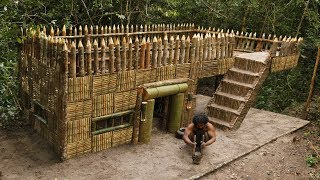 Building The Most Beautiful Survival House Villa By Bushman Skills