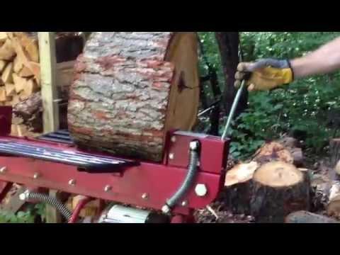 Boss Industrial 10-Ton Horizontal Dual-Action Electric Log Splitter
