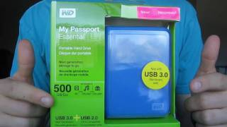 WD My Passport Essential 500GB USB 3.0 Hard Drive