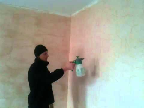 Видео как снять обои со стен