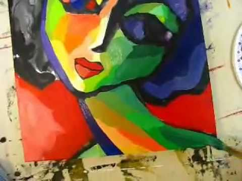 Abstract Portrait Paintings Painting Original Abstract