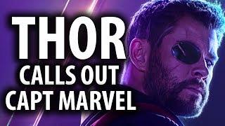 Thor Calls Out Captain Marvel's Arrogance