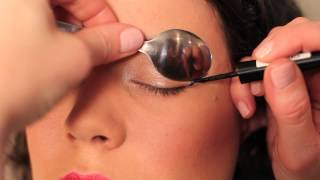 How to use a Spoon to Curl Eyelashes, Apply Liquid Eyeliner & Mascara!!