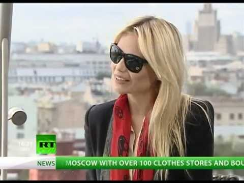 Natasha Poly Fashion's Night Out Moscow Interview
