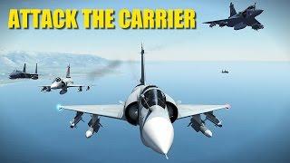 Ukraine Attacks Russian Aircraft Carrier   Viggen Mirage F-15   DCS