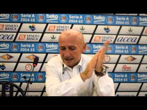 Coach Luca Dalmonte al termine di Acea Virtus Roma - JuveCaserta